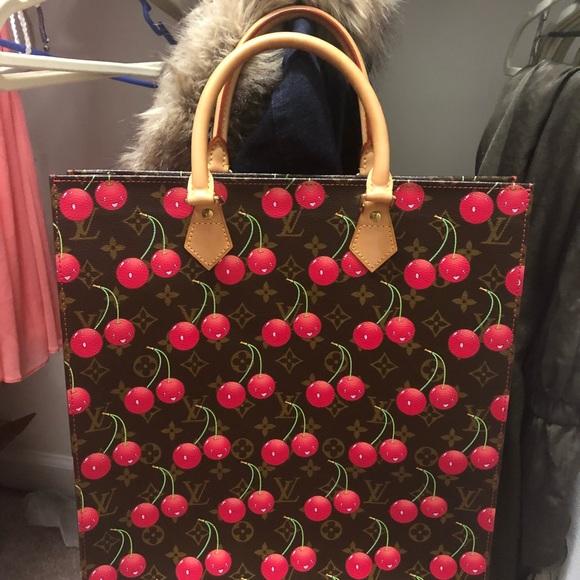Louis Vuitton Handbags - Louis Vuitton Cerises Cherry Sac Plat Tote Bag de0179fa89e8b